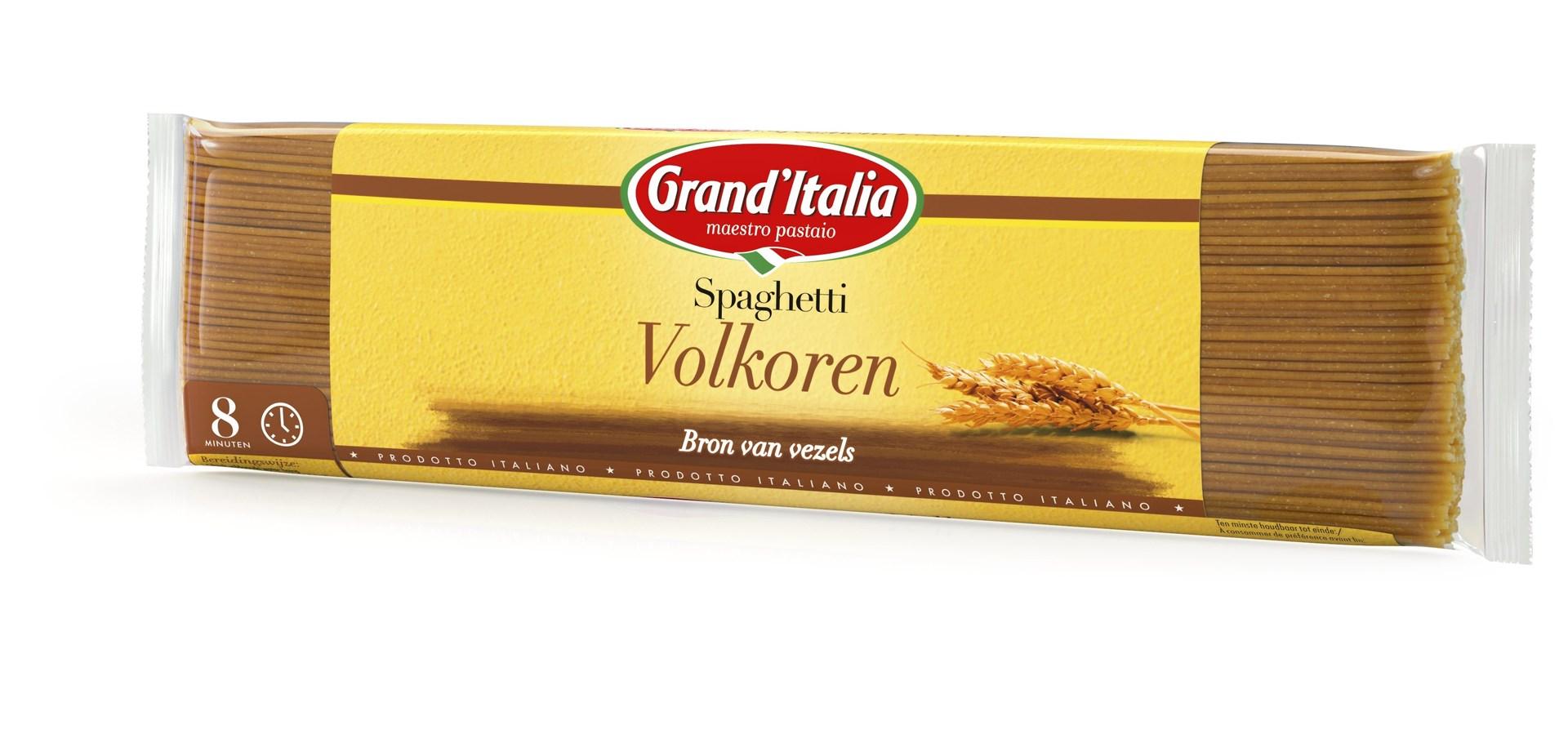 Productafbeelding Grand'Italia Pasta Spaghetti Volkoren 500 g Zak