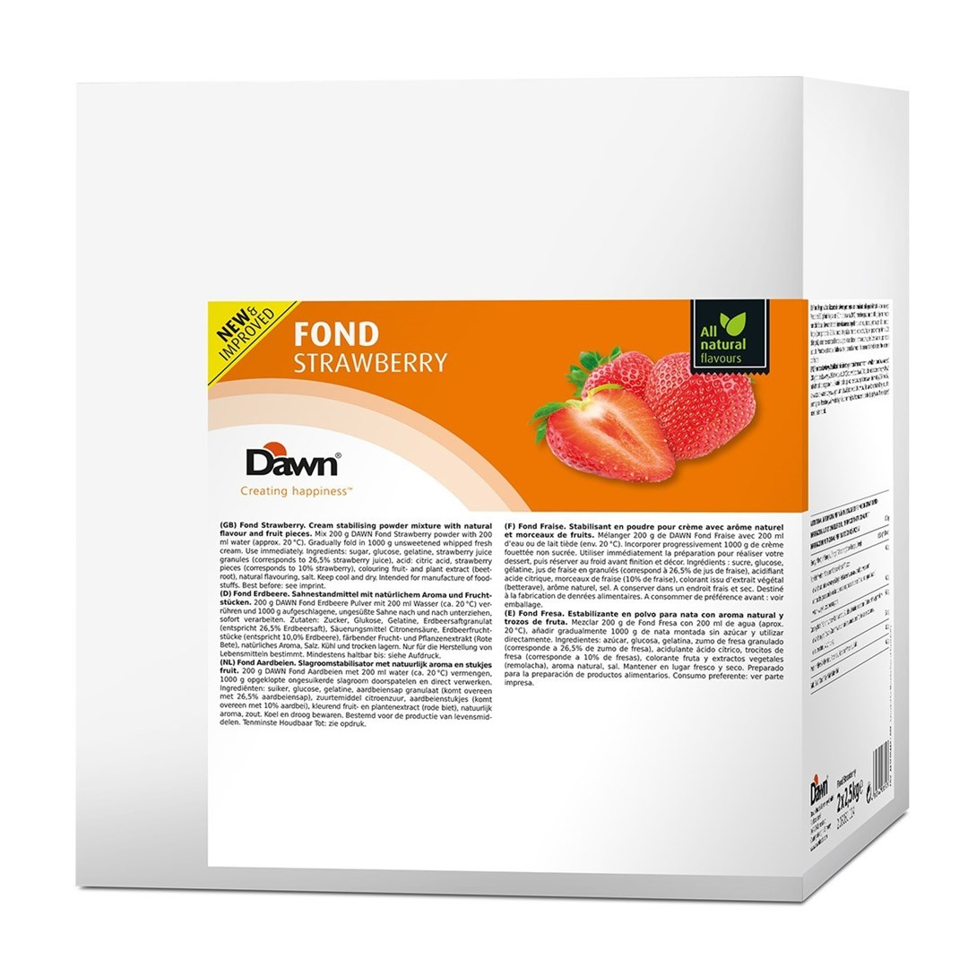 Productafbeelding Dawn Fond Aardbei 2,5 kg zak