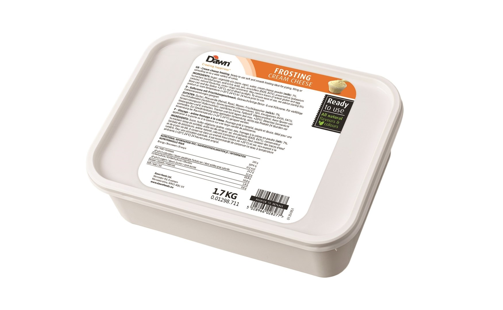Productafbeelding Dawn Frosating Cream Cheese 1,7 KG emmer