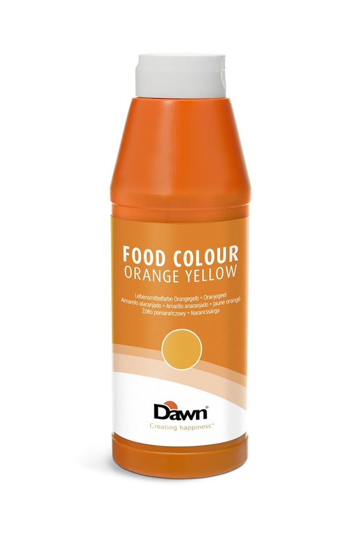 Productafbeelding Dawn oranjegeel levensmiddelen kleurstof 1kg fles