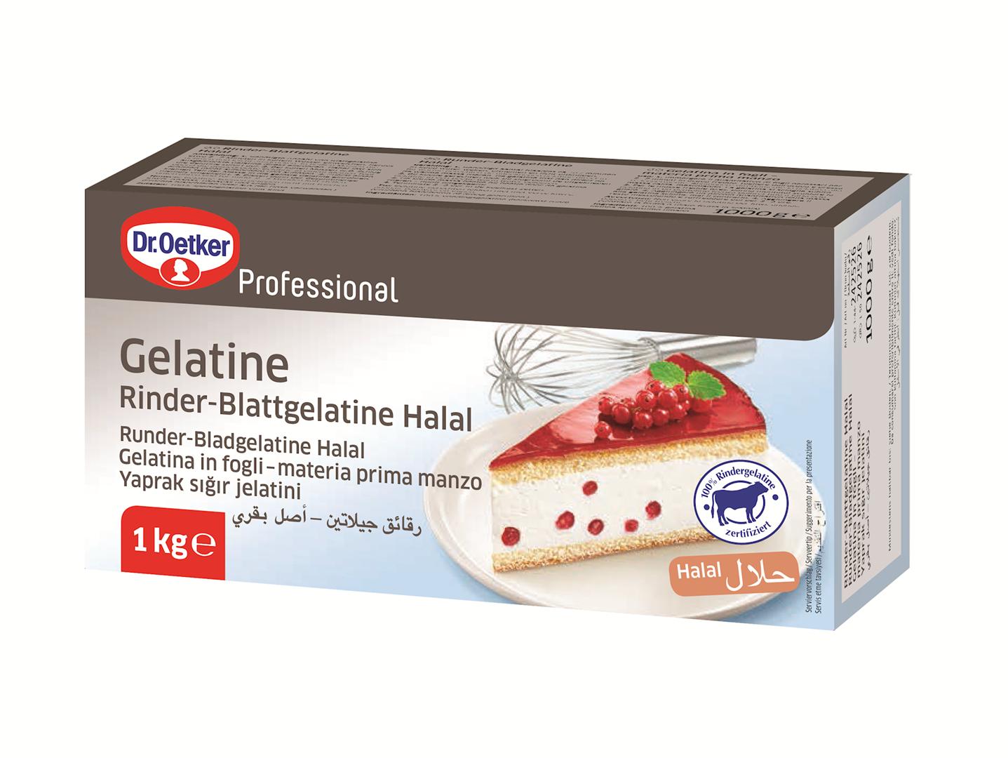 Productafbeelding Dr. Oetker Professional Runder-Bladgelatine Halal 10x1kg