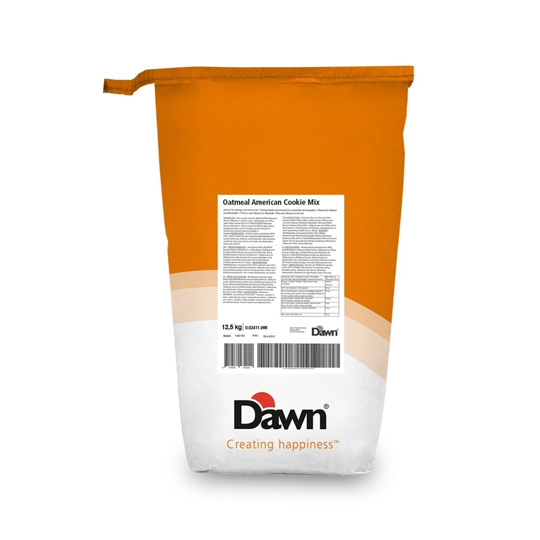 Productafbeelding Dawn Oatmeal American Cookie  - Mix 12,5 kg  zak