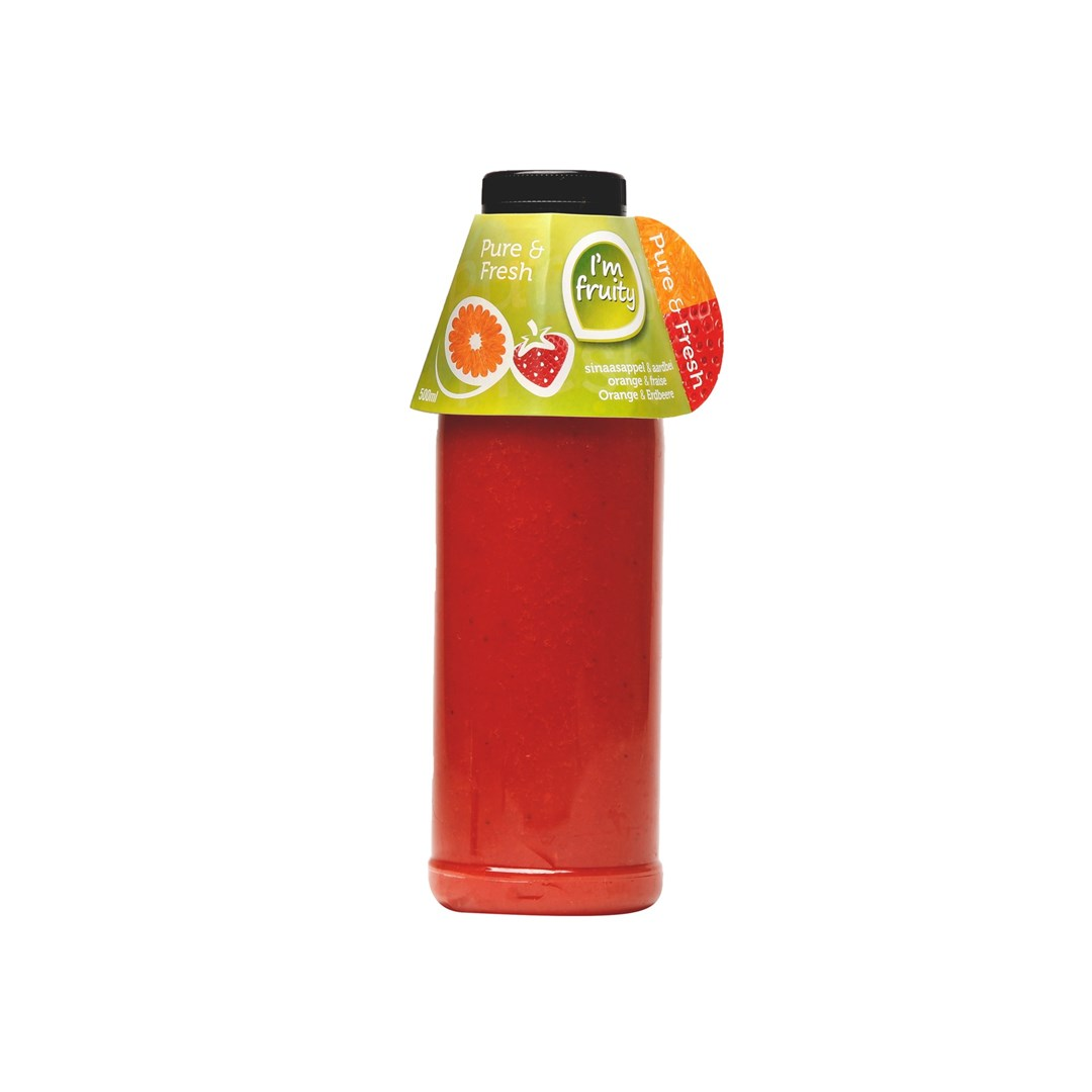 Productafbeelding Sinaasappel-aardbei HPP 0,50L