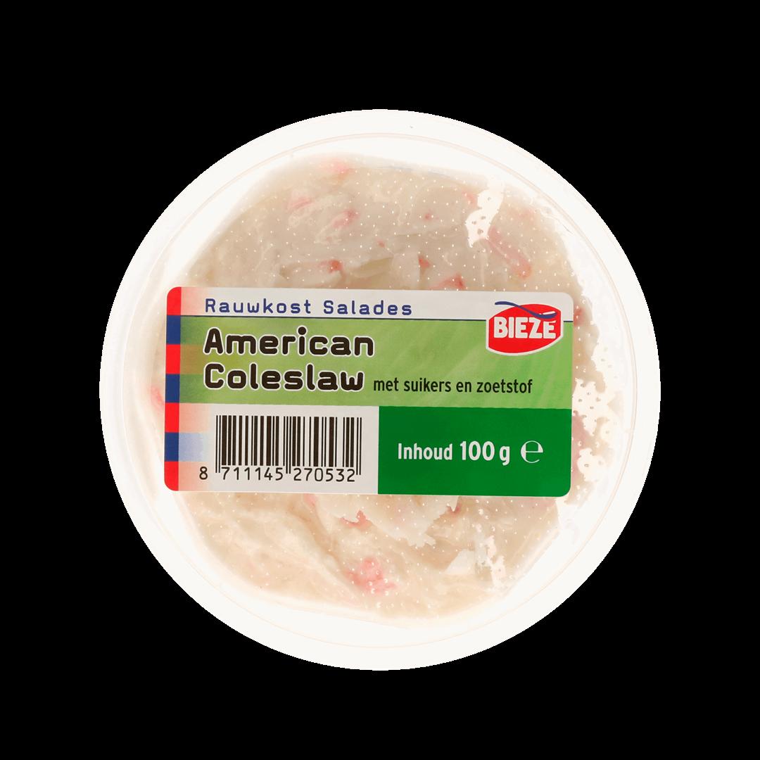 Productafbeelding Portion Pack american coleslaw salade met suikers en zoetstof 100g