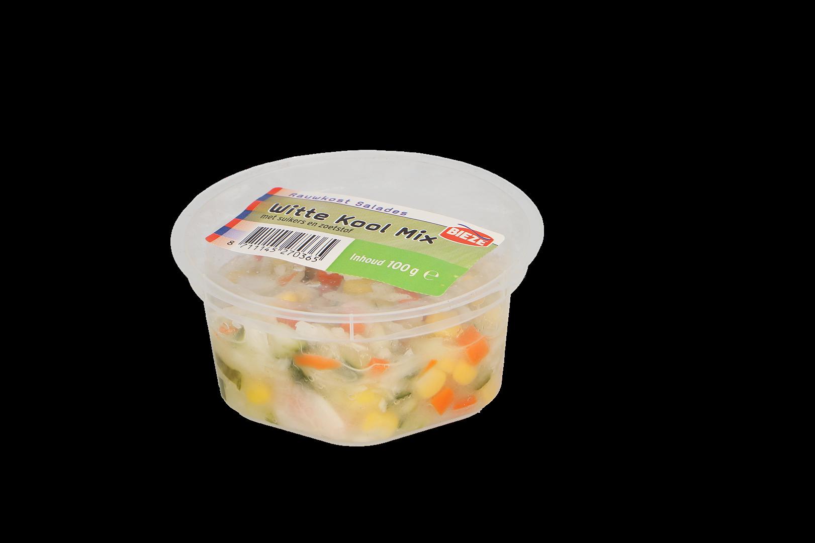 Productafbeelding Portion pack witte kool mix salade met suikers en zoetstof 100g
