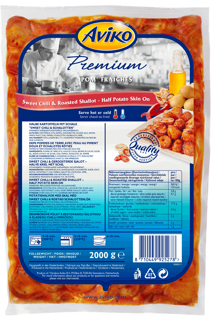 Productafbeelding Aviko Premium Marinated Chilli ½ 2kg