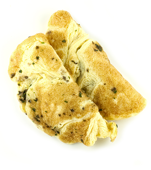 Productafbeelding Ambachtelijke omelet met fijne kruiden (vrije uitloop eieren), Diepgevroren 50 x ca. 90g