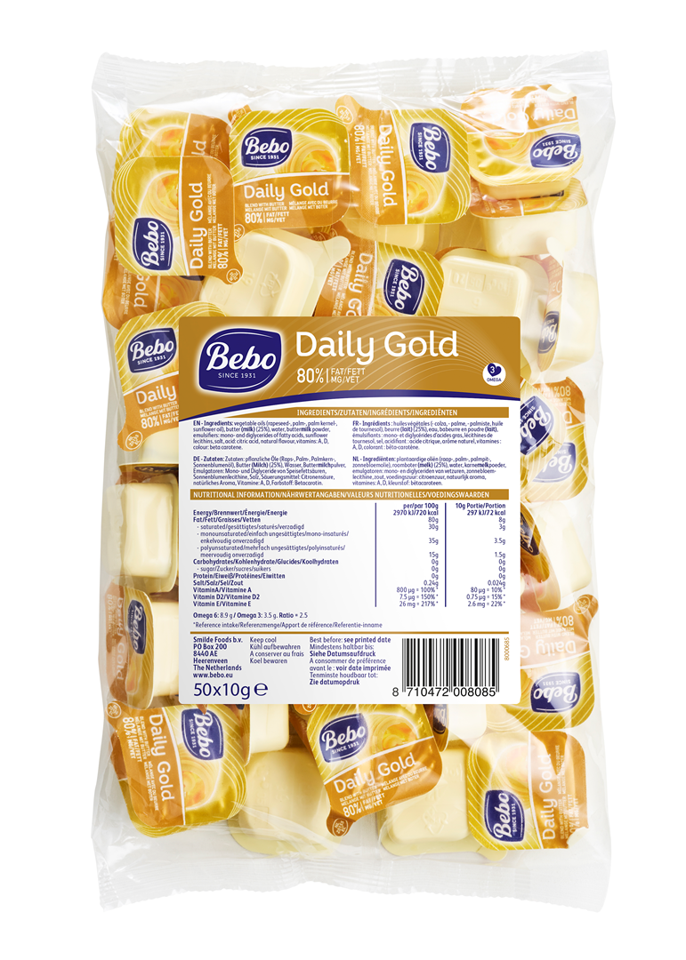 Productafbeelding BEBO Daily Gold  80% vet 6x50x10g