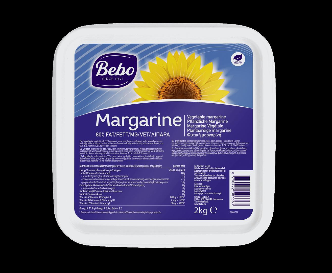 Productafbeelding BEBO Margarine 2kg
