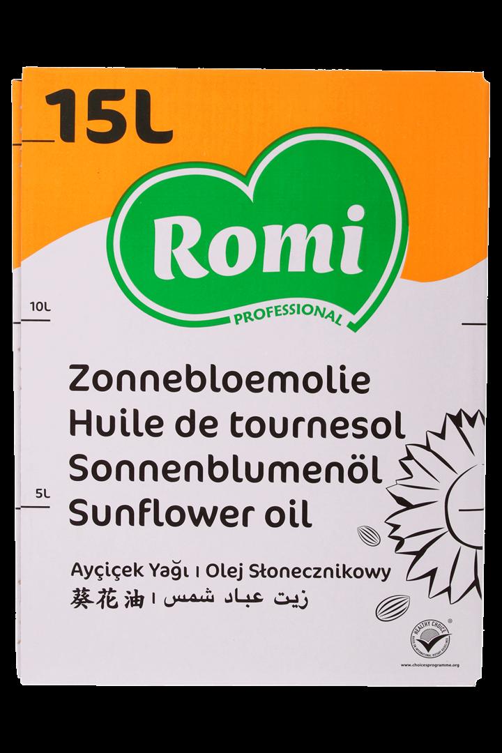Productafbeelding ROMI Zonnebloemolie 15l
