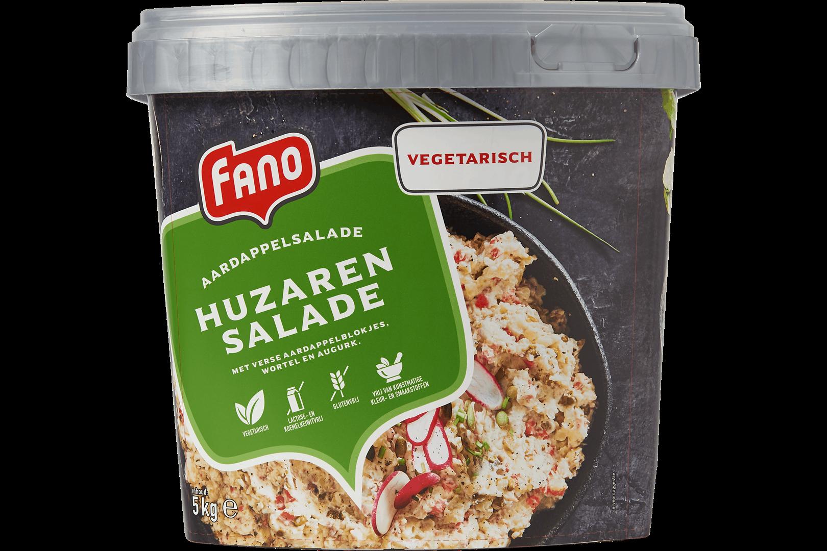 Productafbeelding FANO Russische Salade met aardappelblokjes, wortel, augurk, zilverui en doperwten 5kg