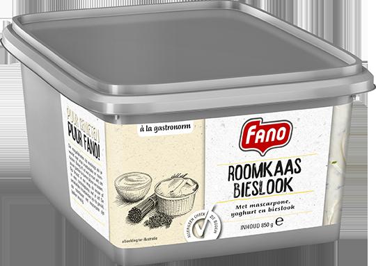 Productafbeelding FANO Roomkaas Bieslook met mascarpone, yoghurt en bieslook 850g