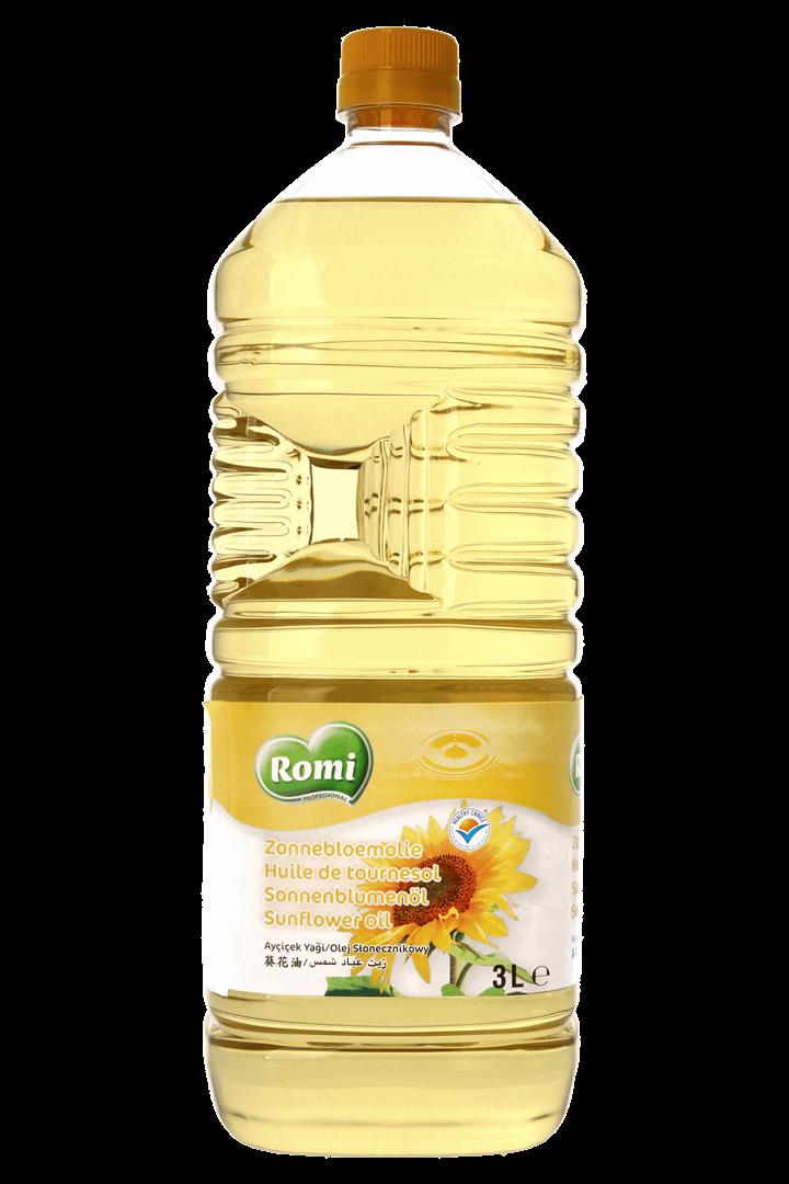 Productafbeelding ROMI Zonnebloemolie 3l
