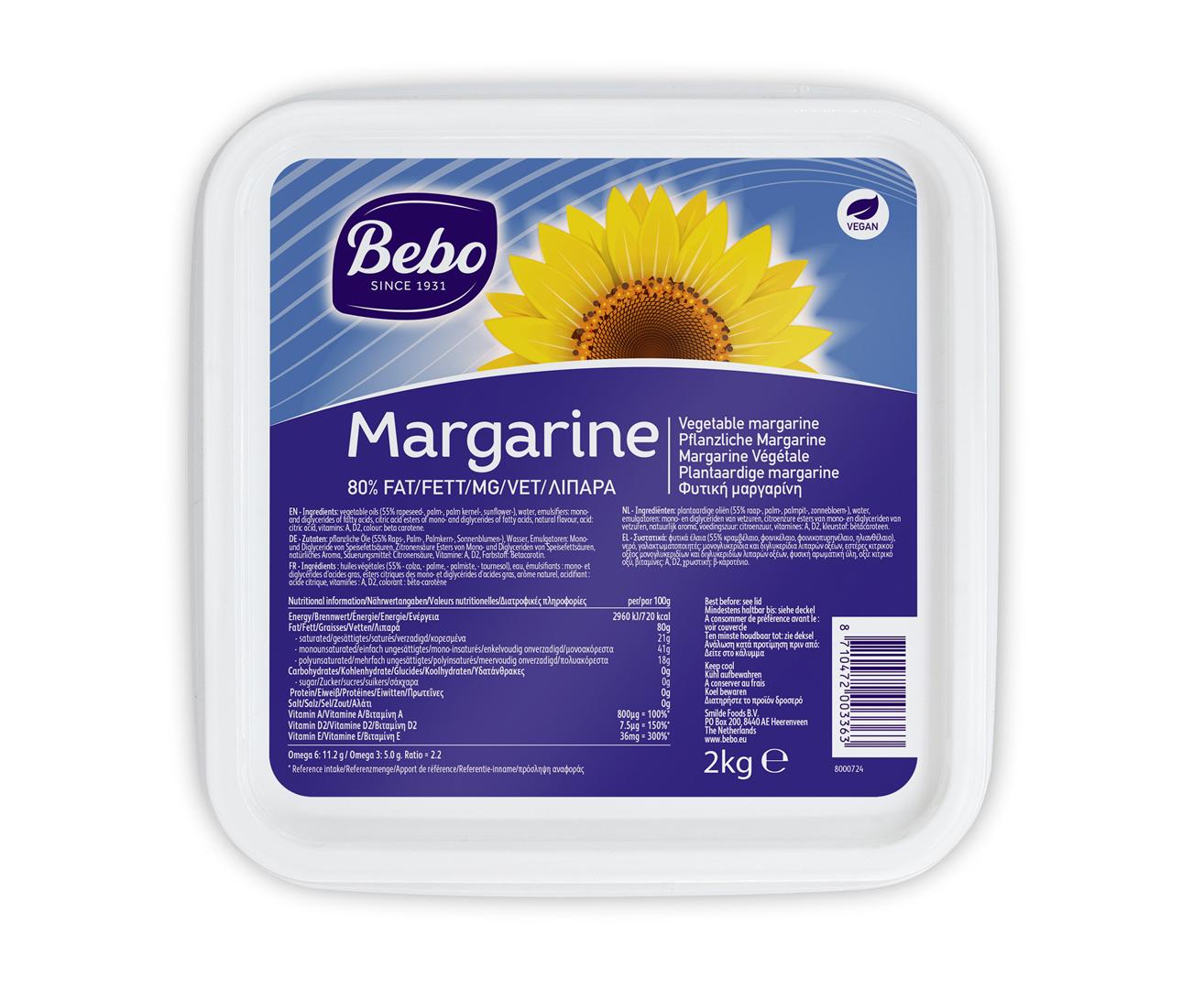 Productafbeelding BEBO Soft Margarine 6x2kg