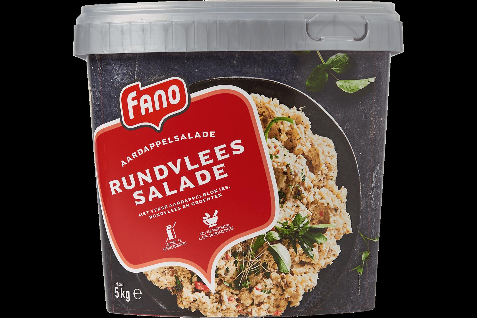 Productafbeelding FANO Rundvlees Salade met aardappelblokjes, rundvlees en groente 5kg