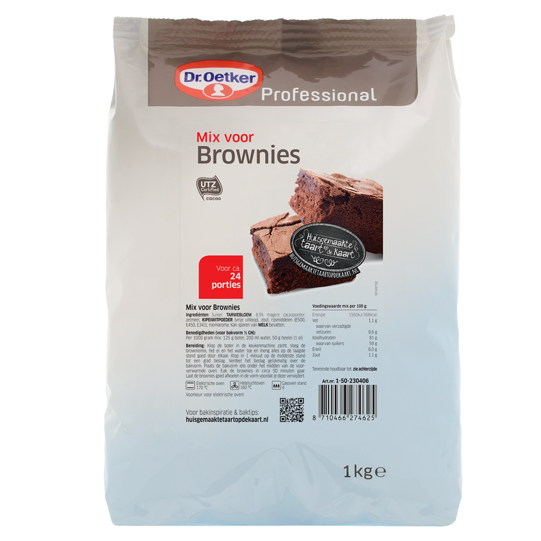 Productafbeelding Dr. Oetker Professional Mix voor Brownies 6x1kg