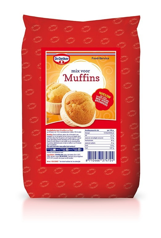 Productafbeelding Dr. Oetker Professional Mix voor muffins 6x1kg