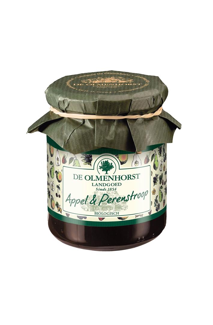 Productafbeelding de Olmenhorst stroop Biologisch appel & peren 300g pot