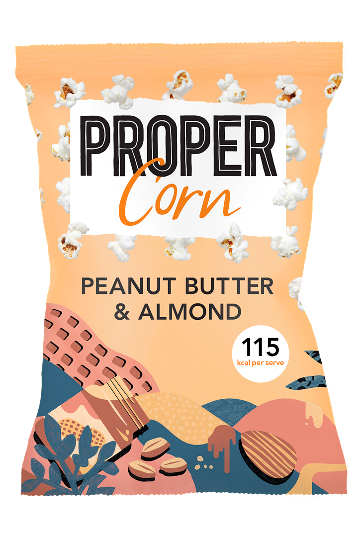 Productafbeelding Propercorn popcorn peanut butter & almond 90g zak