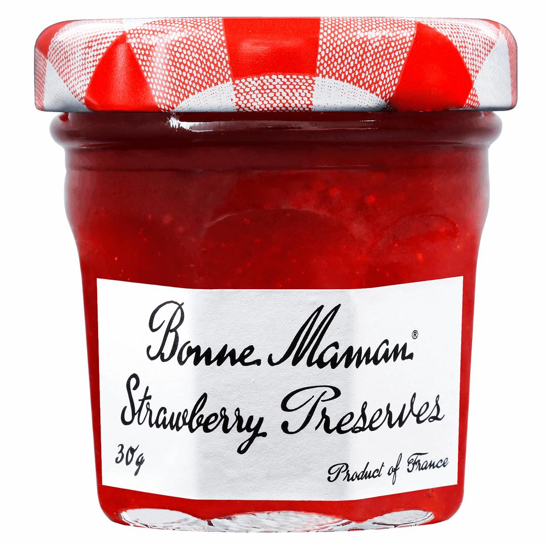 Productafbeelding Bonne Maman extra jam aardbeien 30g pot