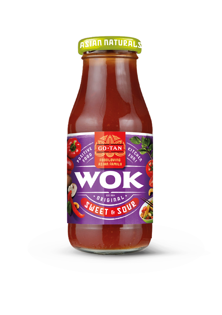 Productafbeelding Go-Tan Original Wok All Natural Sweet & Sour 240ml