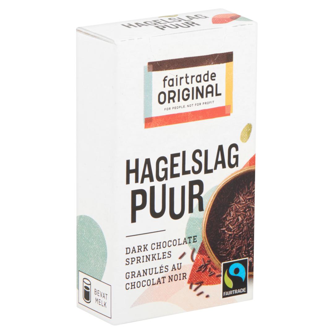 Productafbeelding Chocolade hagel puur in doosje 80x15g