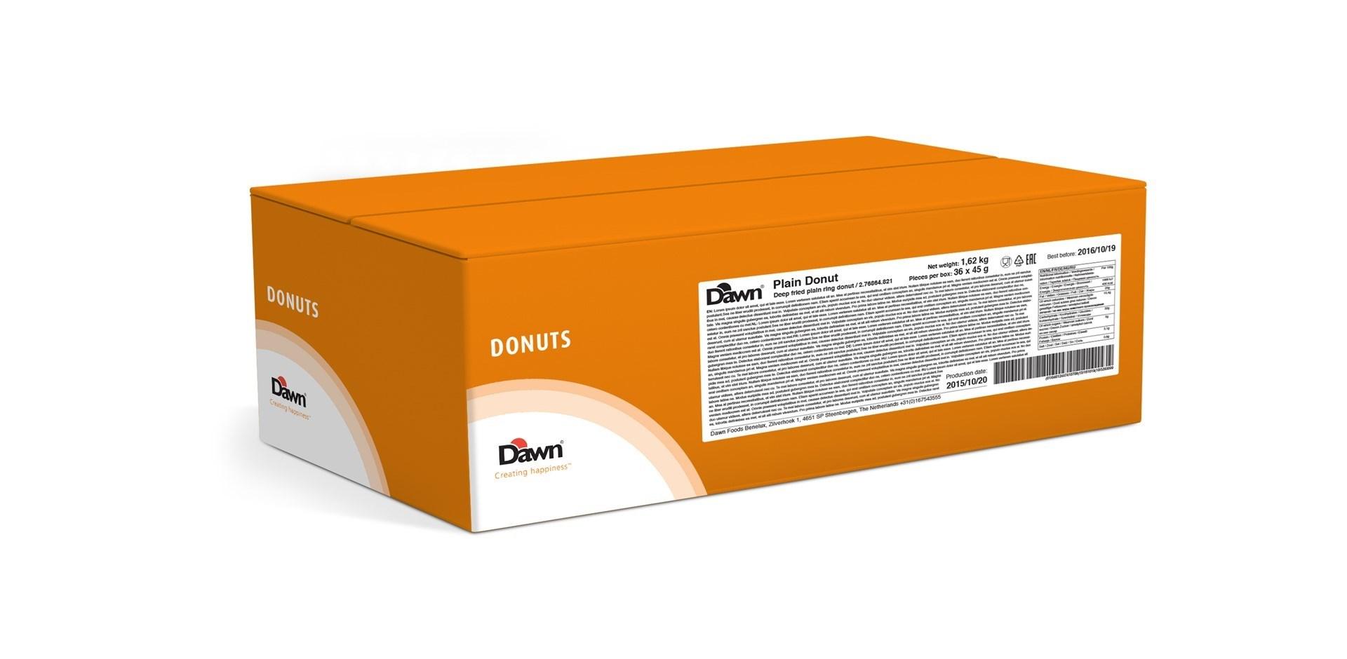 Productafbeelding Dawn Plain Donut 3x12 stuks doos