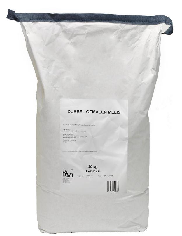 Productafbeelding Dawn Dubbel Gemalen melis 20 kg zak