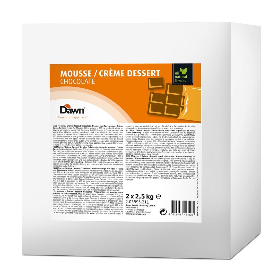 Productafbeelding Dawn Mousse/Crème Dessert Chocolade 2,5 kg zak