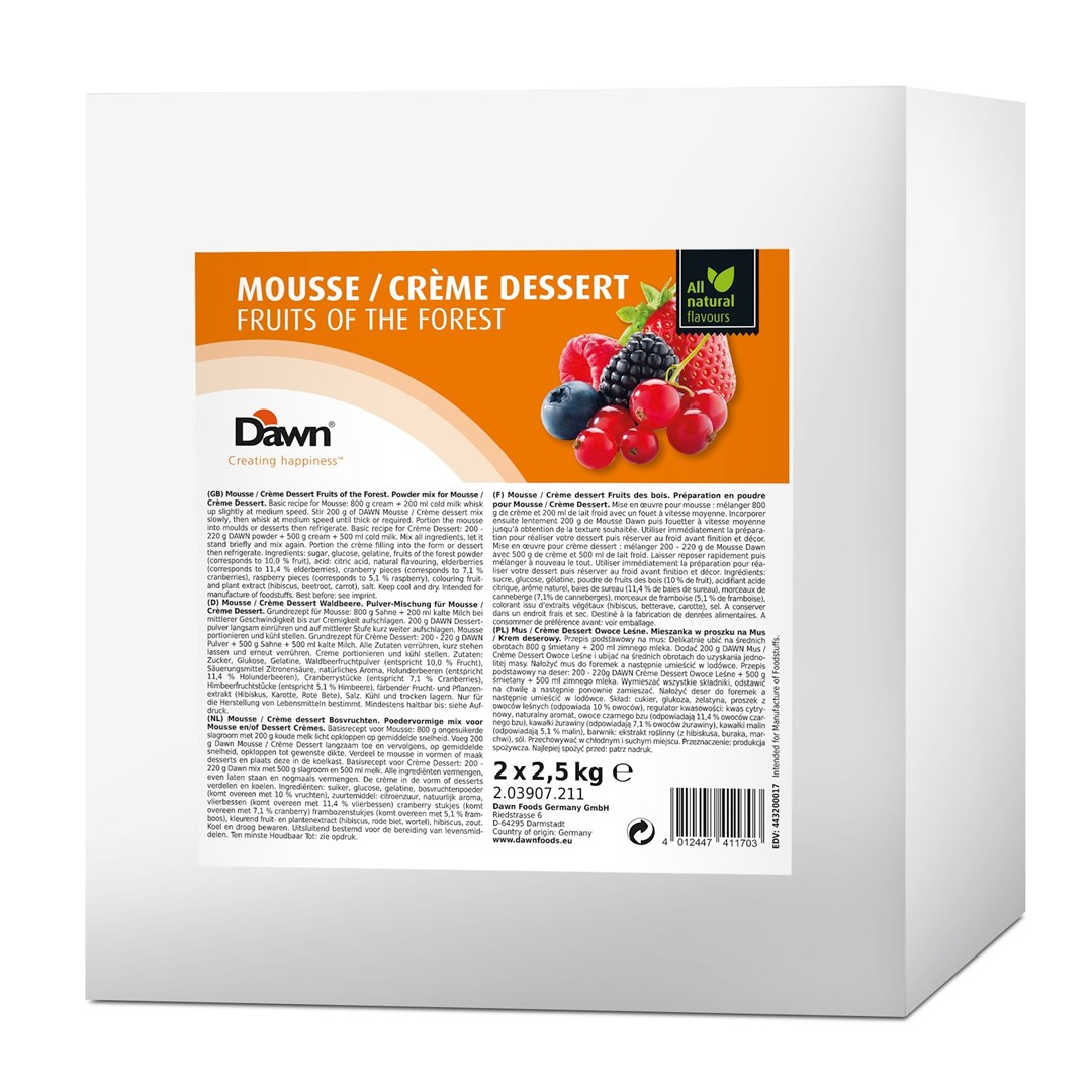 Productafbeelding Dawn Mousse/Crème Dessert Bosvruchten 2,5 kg zak
