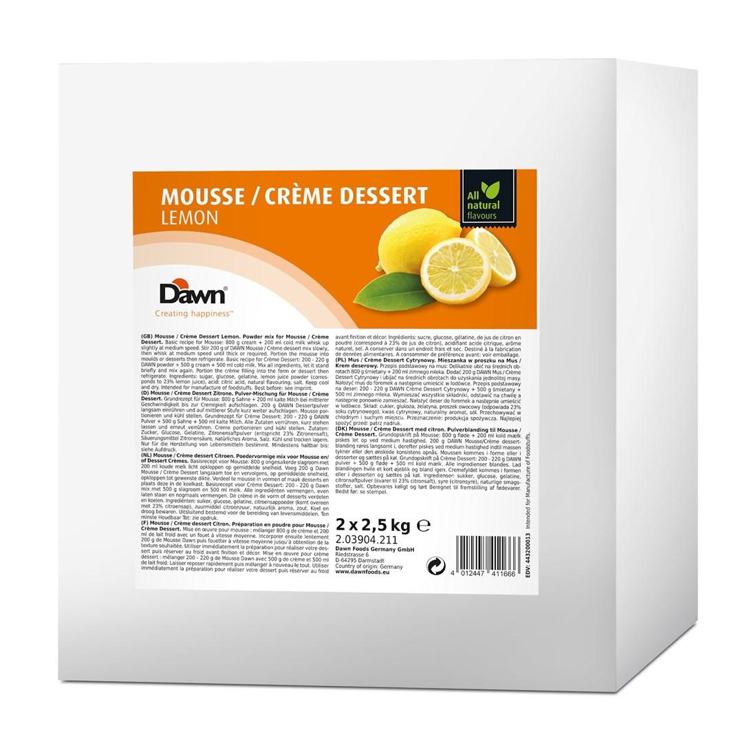 Productafbeelding Dawn Mousse/Crème Dessert Citroen 2,5 kg zak