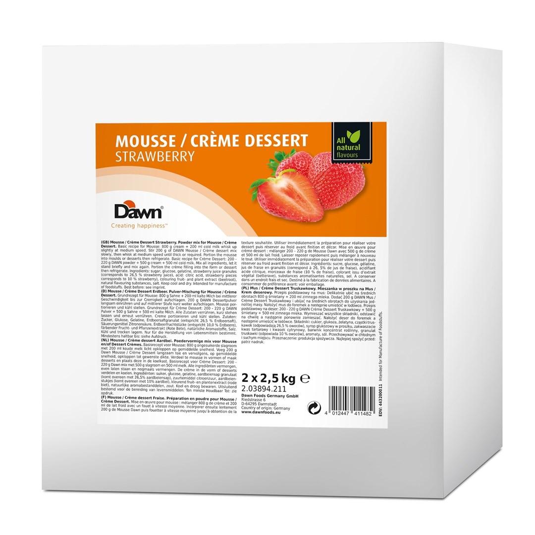 Productafbeelding Dawn Mousse/Crème Dessert Aardbei 2,5 kg zak