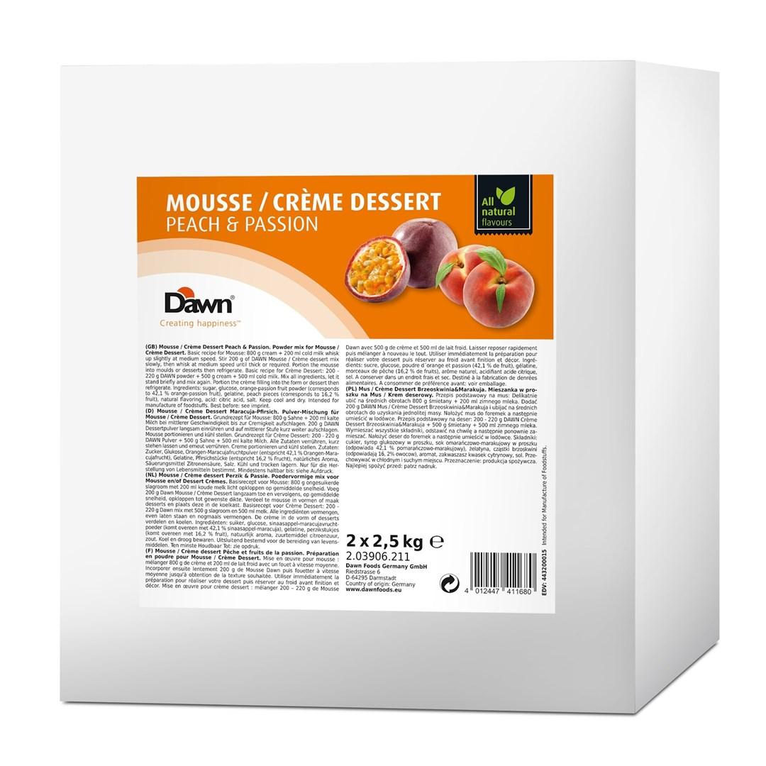 Productafbeelding Dawn Mousse/Crème Dessert Perzik-Passie 2,5 kg zak