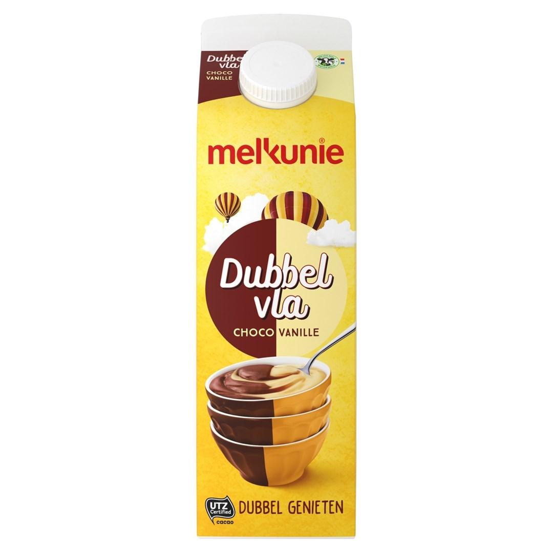 Productafbeelding Melkunie dubbelvla vanille/chocolade 1L