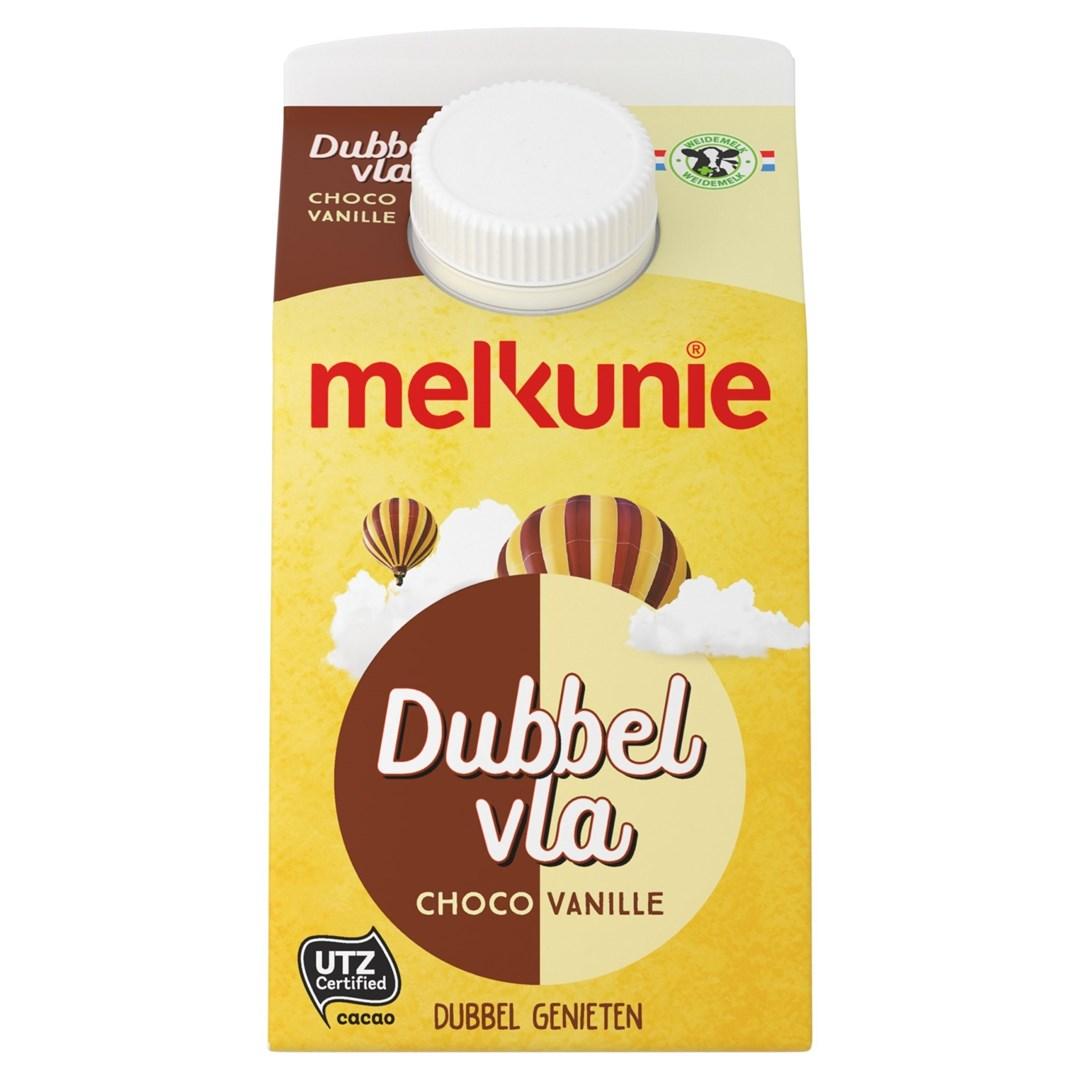 Productafbeelding Melkunie Dubbelvla Vanille/Chocolade 500ml