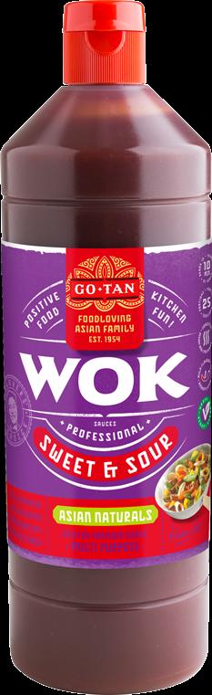 Productafbeelding Go-Tan Woksaus Sweet & Sour 1000ml Asian Naturals