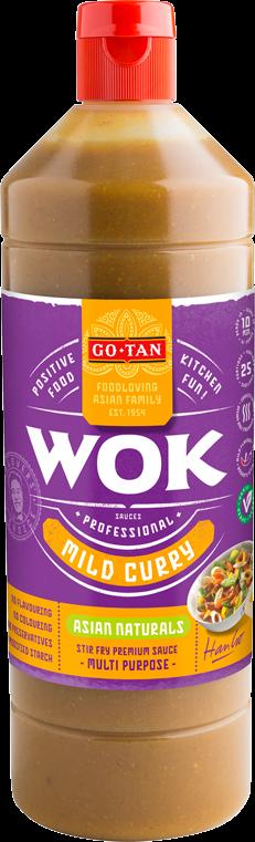 Productafbeelding Go-Tan Woksaus Milde kerrie 1000ml Asian Naturals