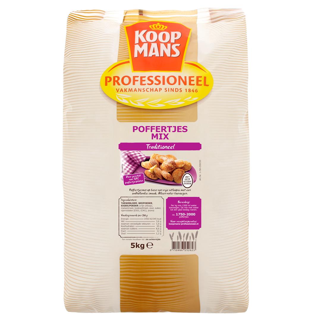 Productafbeelding Koopmans Professioneel Poffertjesmix Traditioneel (lactosevrij) 2x5kg