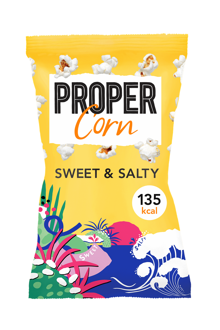 Productafbeelding Propercorn popcorn sweet & salty 30g zak