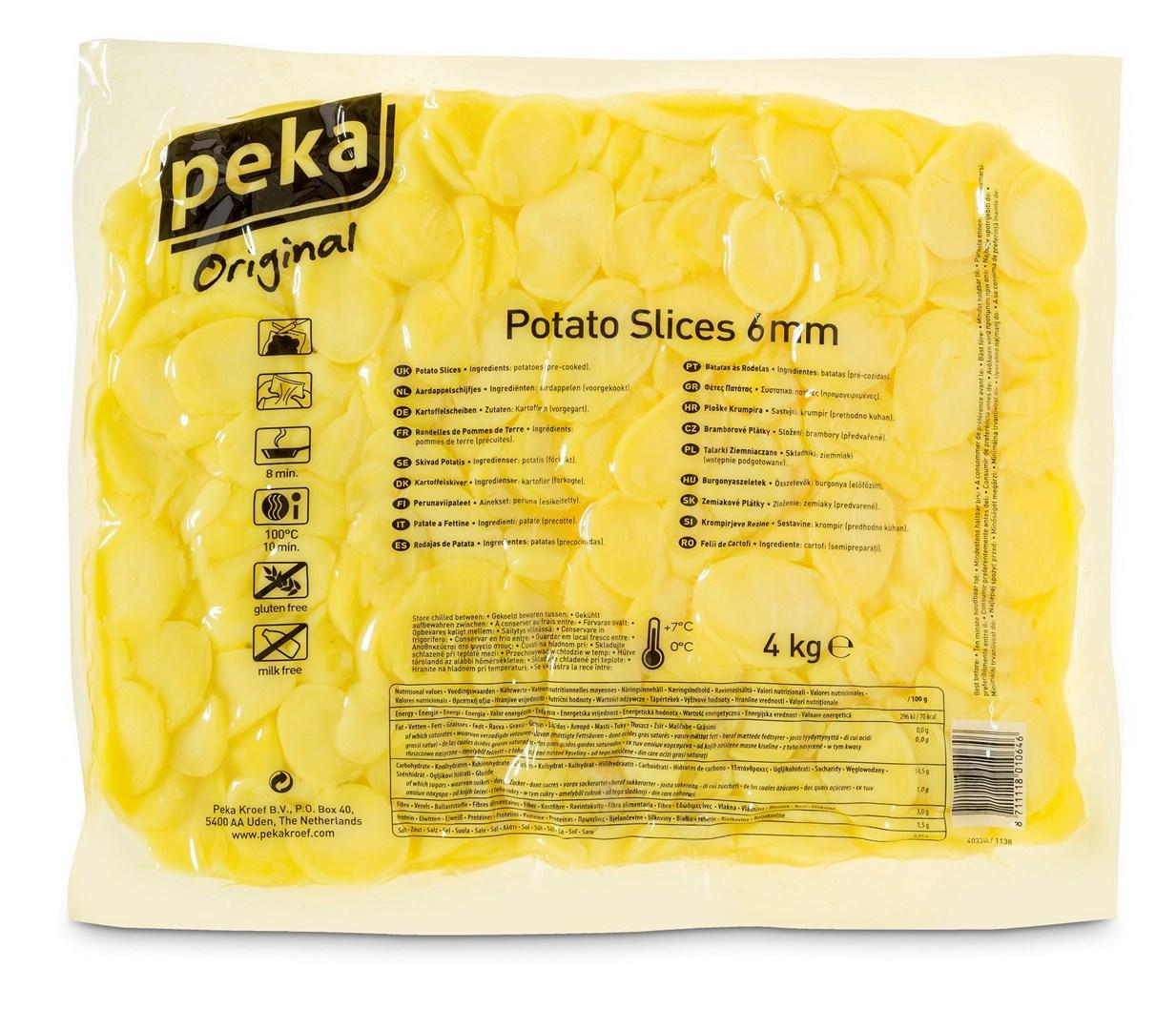 Productafbeelding Peka Aardappelschijfjes 6mm 4kg