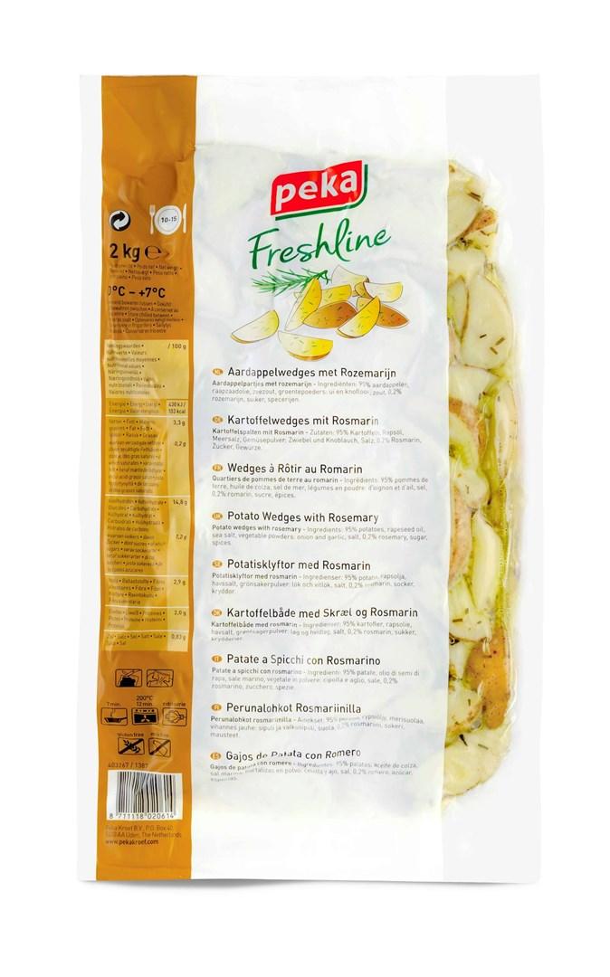 Productafbeelding Peka Freshline Aardappelpartjes met rozemarijn 2kg