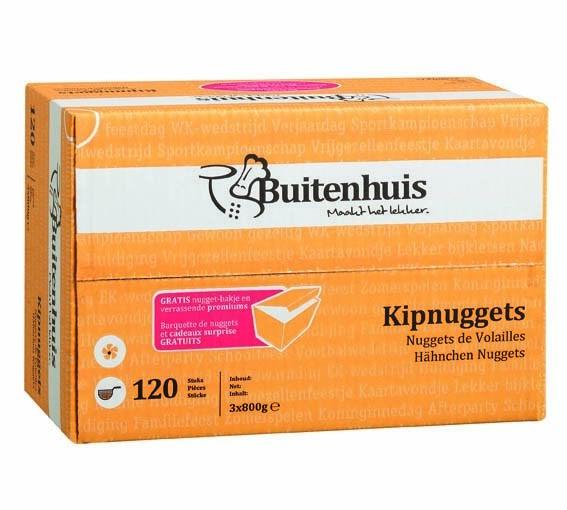 Productafbeelding Buitenhuis Kipnuggets 120 st.