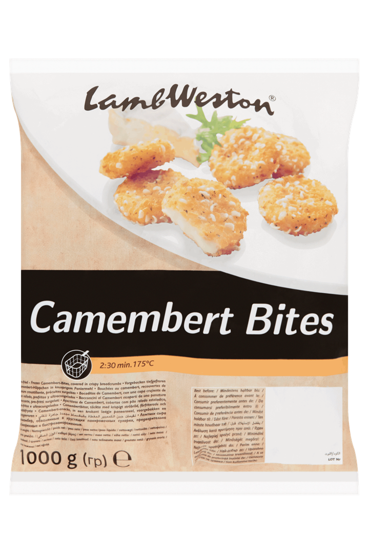 Productafbeelding Lamb Weston Camembert-Snacks Bites 1000 g Zak