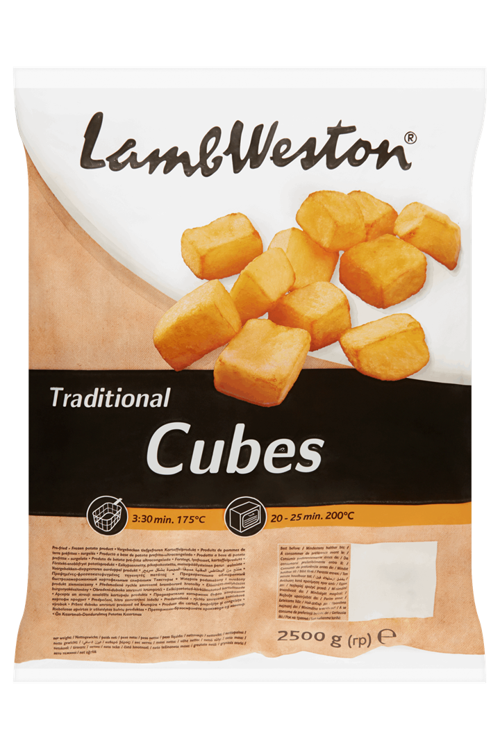 Productafbeelding Lamb Weston Aardappel Product Traditional Cubes 2500 g Zak