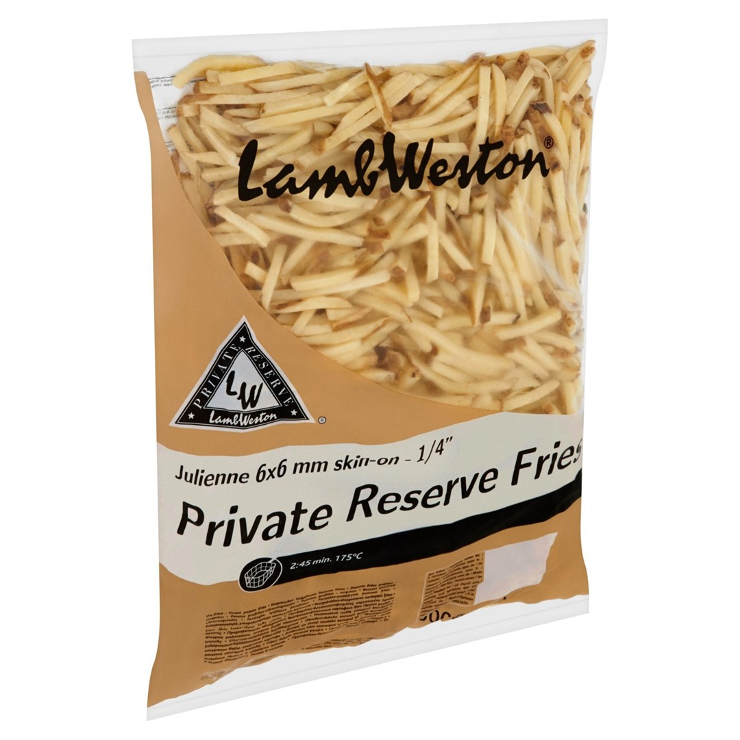 Productafbeelding Lamb Weston Frites Julienne Skin-On 2500 g Zak