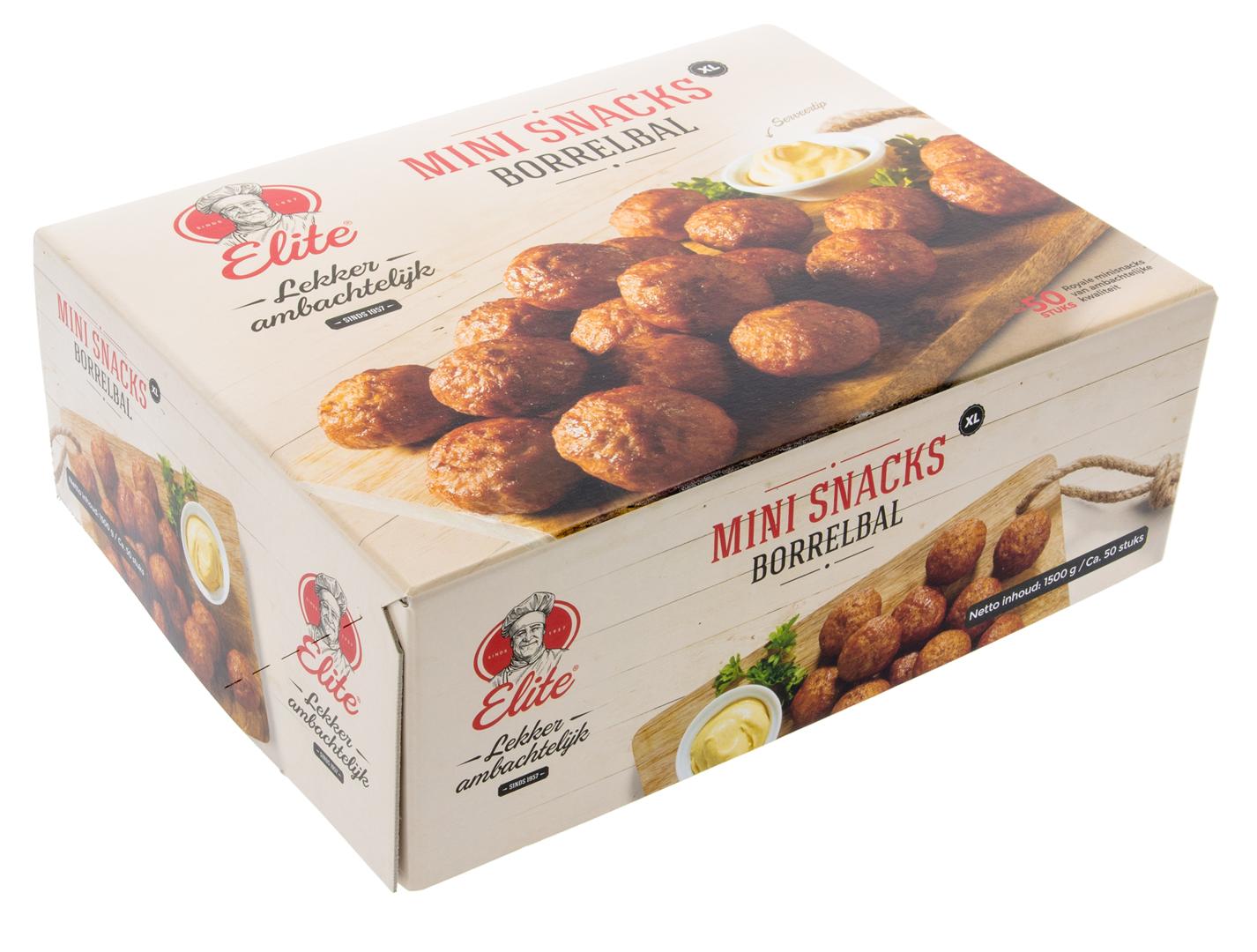 Productafbeelding Minisnacks XL - Borrelballen 50 stuks