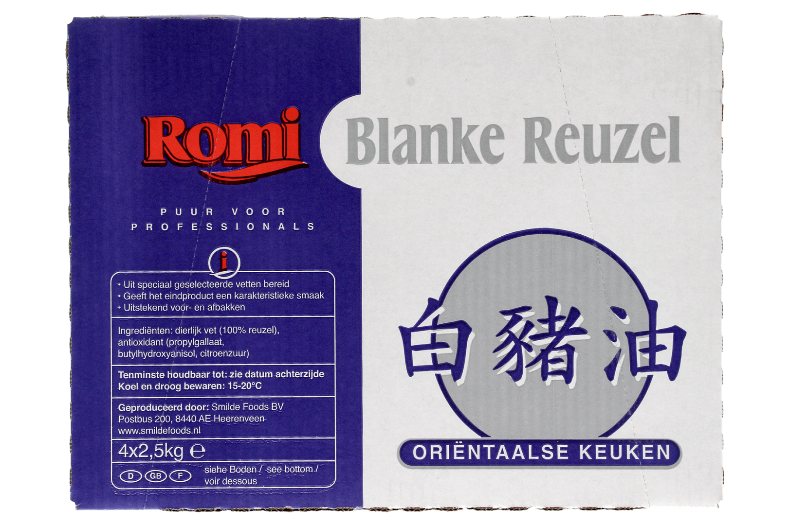 Productafbeelding ROMI Blanke Reuzel 4x2,5kg