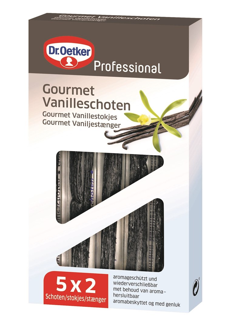 Productafbeelding Dr. Oetker Professional Gourmet vanillestokjes 5x2