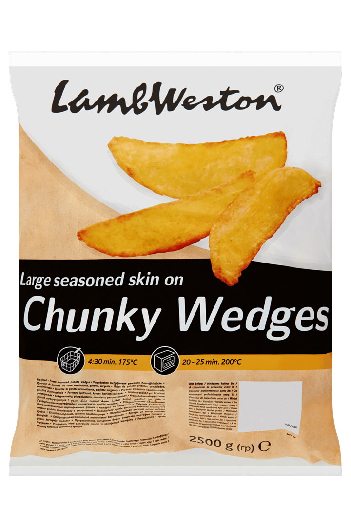 Productafbeelding Lamb Weston Aardappelpartjes Large Seasoned Skin on Chunky Wedges 2500 g Zak