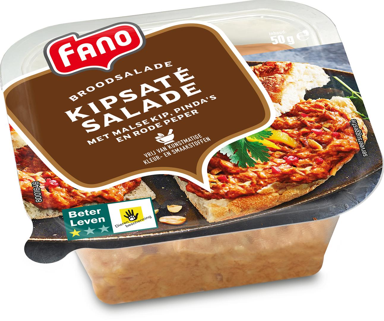 Productafbeelding FANO Kipsaté salade 50g